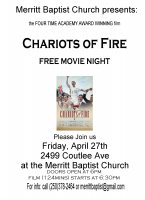 Free Movie Night: Chariots of Fire