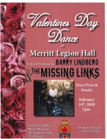 Valentine's Day Dance at the Merritt Legion Hall